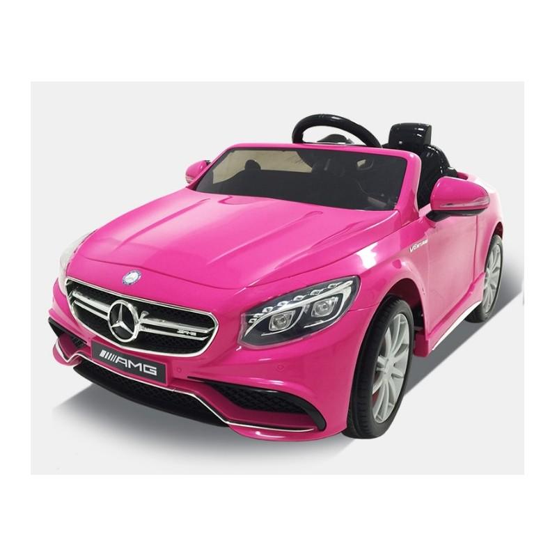 Coche El 233 Ctrico Infantil Barato Mercedes Roaster S63 Rosa 12v