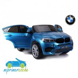 BMW X6M AZUL METALIZADO  12v 2 plazas 2.4G
