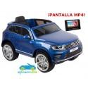 VOLKSWAGEN TOUAREG 12V AZUL con Pantalla video MP4 y mando 2.4