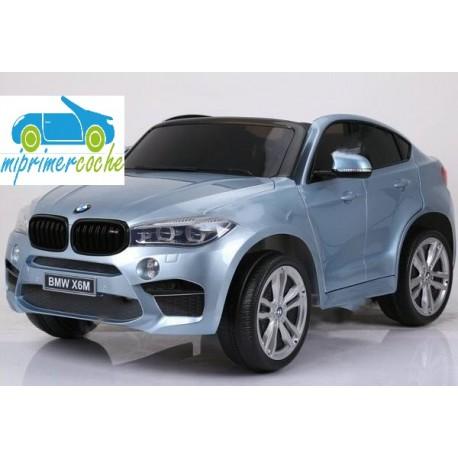 BMW X6M PLATA METALIZADO  12v 2 plazas 2.4G