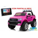 FORD RANGER PICK-UP ROSA 4X4 12V PANTALLA MP4 - Versión Superior