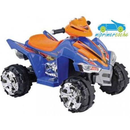 Quads Eléctrico para Niños MI PRIMER COCHE 12V color azul-naranja
