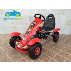 Kart infantil a pedales  F618 color rojo
