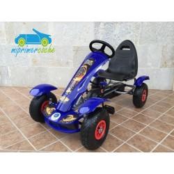 Kart infantil a pedales  F618 color azul