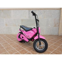 Moto eléctrica para niños 24V 250W color rosa