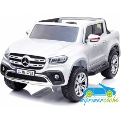 MERCEDES PICKUP X CLASS 2 PLAZAS 12V Blanco 4X4  MP4  2.4G