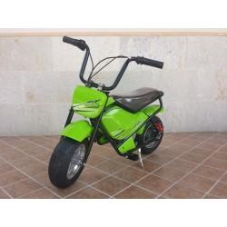 Moto eléctrica para niños 24V 250W color verde