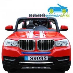 BMW X7 STYLE ROJO 4X4  12v 2 plazas 2.4G