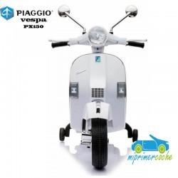 Moto Eléctrica para niños VESPA PIAGGIO 12V color blanco