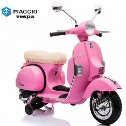 Moto Eléctrica para niños VESPA PIAGGIO 12V color rosa