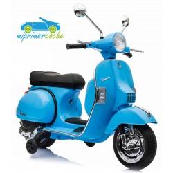 Moto Eléctrica para niños VESPA PIAGGIO 12V color azul