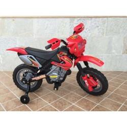 Moto eléctrica para niños MOTO CROSS 6V color rojo