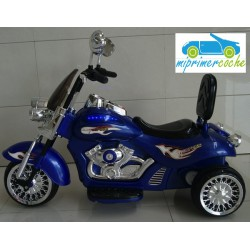 Trimoto CHOPER 12V color azul 12V