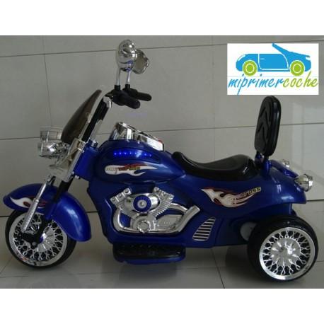 Trimoto CHOPER 12V color azul 12V