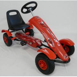 Kart infantil a pedales  SPORT MEDIUM color rojo