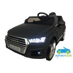 Coche eléctrico para niños ÁUDI Q7 12V NEGRO METALIZADO FACELIFT 2.4G ruedas de caucho