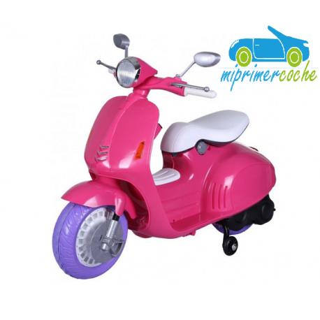 Moto Eléctrica para niños VESPA STYLE 12V color rosa
