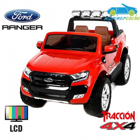 FORD RANGER PICK-UP ROJO  4X4 12V PANTALLA MP4 - Versión Superior