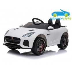JAGUAR F-Type SVR  12v blanco con mando parental 2.4G