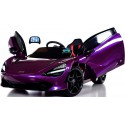 Mc Laren violeta pintado12V pantalla MP4 2.4G