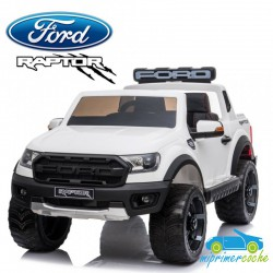FORD RANGER RAPTOR BLANCO 2 PLAZAS 12V