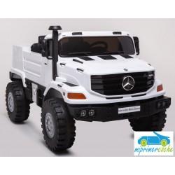 Camión MERCEDES ZETROS  12v 1 plaza Blanco 2.4G