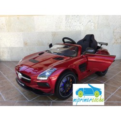 MERCEDES  SLS   ROJO PINTADO 12V mando distancia  2.4G  y video MP4