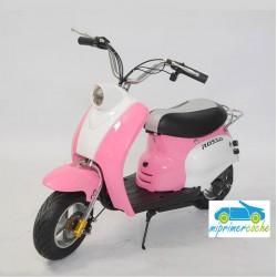 Moto eléctrica VESPA STYLE 24V 250w color rosa