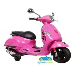 Moto Eléctrica para niños VESPA PIAGGIO GTS 12V color rosa