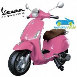Moto Eléctrica para niños VESPA PIAGGIO PRIMAVERA 12V color rosa