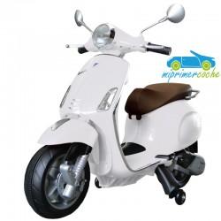 Moto Eléctrica para niños VESPA PIAGGIO PRIMAVERA 12V color blanco