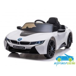 Coche Eléctrico Para Niños BMW I8 BLANCO 12V con mando a distancia