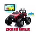 FORD MONSTER TRUCK 1 PLAZA 12V 4X4 ROJO METALIZADO Pantalla MP4