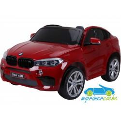 BMW X6M ROJO METALIZADO  12v 2 plazas 2.4G