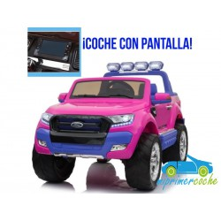 FORD RANGER PICK-UP ROSA/VIOLETA 4X4 12V PANTALLA MP4 - Versión Superior