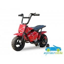 Moto eléctrica para niños 24V 250W color rojo graffiti