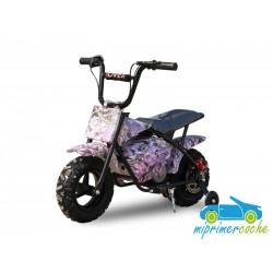 Moto eléctrica para niños 24V 250W color rosa graffiti