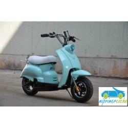 Moto eléctrica VESPA STYLE OVEX 24V 250w color verde menta