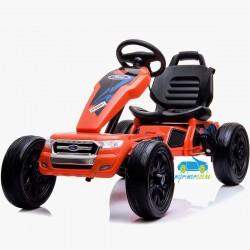 Kart Eléctrico Infantil FORD RANGER 12V Naranja con mando 2.4G