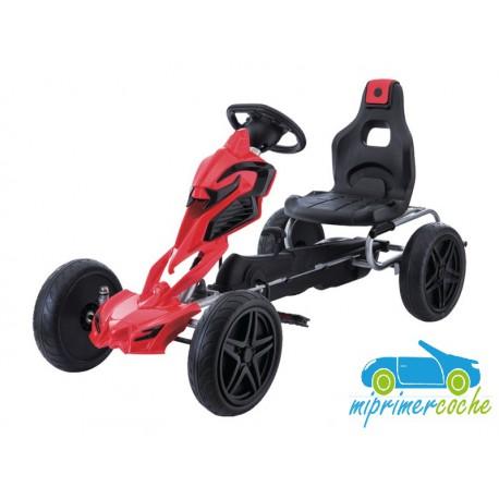 Kart Infantil a Pedales ROBOT GO KART Rojo