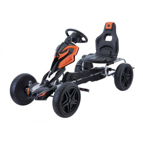 Kart Infantil a Pedales ROBOT GO KART Naranja
