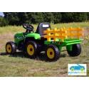 Tractor Eléctrico para Niños BLOW TRUCK 12v VERDE 2.4G con remolque