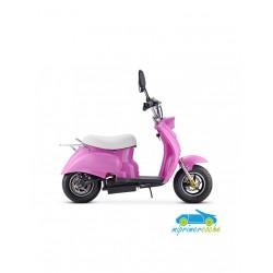Moto eléctrica VESPA STYLE OVEX 24V 250w color rosa