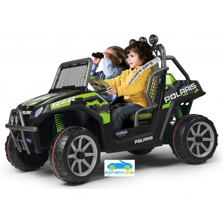 POLARIS RANGER RZR GREEN SHADOW 2 PLAZAS 24V  control parental 2.4G