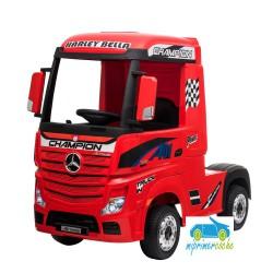 Camión MERCEDES ACTROS ROJO 4x4 12v 1 plaza 2.4G