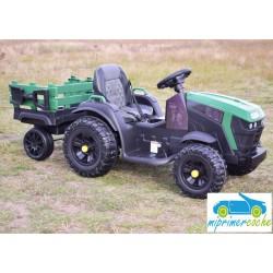 Tractor Eléctrico para Niños TRAC 7100 12V VERDE 2.4G con remolque