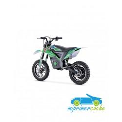 Moto eléctrica ECO TIGER CROSS 24V 500W color verde