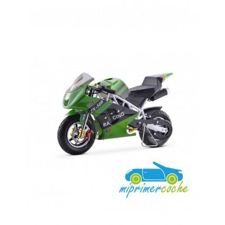 Moto infantil a gasolina GP KRX VERDE 49CC 2 TIEMPOS