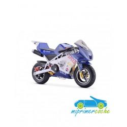 Moto infantil a gasolina GP KRX AZUL 49CC 2 TIEMPOS