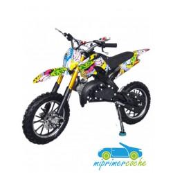 Moto infantil de gasolina CROSS KRX 701 GRAFFITI 49CC 2 TIEMPOS